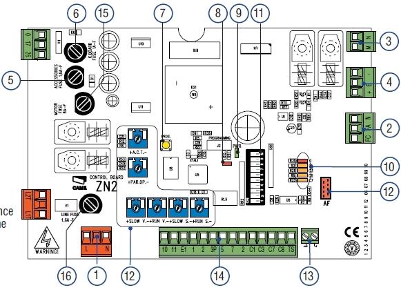 Came carte pour coulissant bx 243 gdme automatisme de for Came zbx74 78 schema